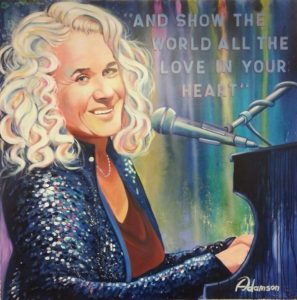Adamson portrait of Carole King featured at Grammy event