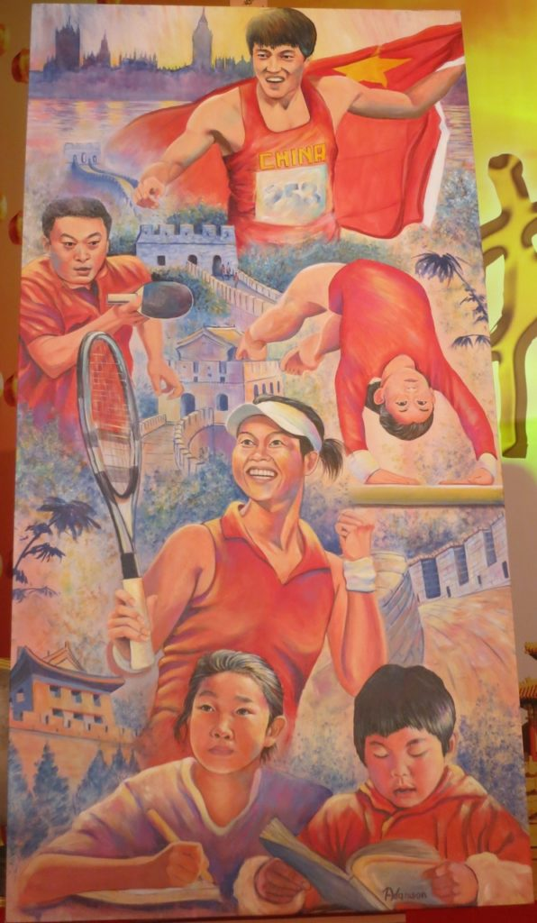 Painted for Chinese Olympic Committee