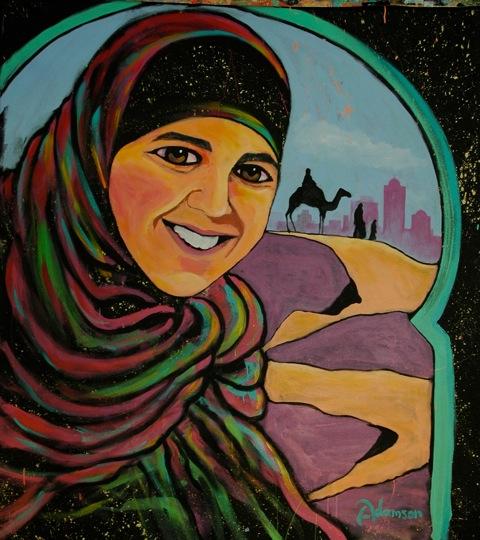Loma Linda Gala Painting- Moroccan Girl