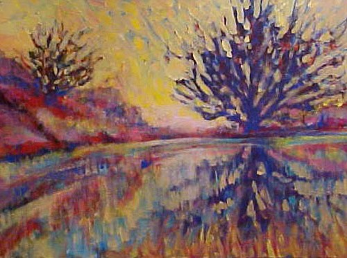 Ethereal Landscape (30 in. x 40 in. acrylic on canvas