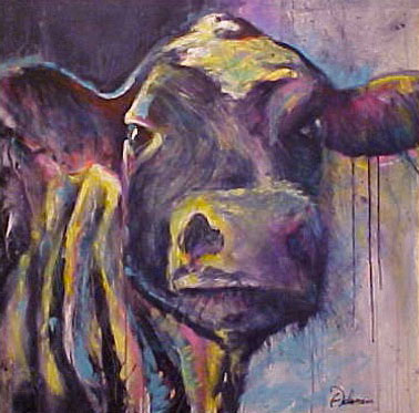 Moo (36 in. x 36 in., acrylic on canvas)