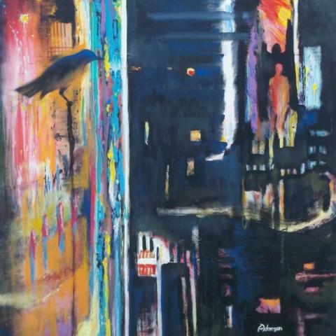 Seeker (48 in. x 48 in. acrylic on canvas)