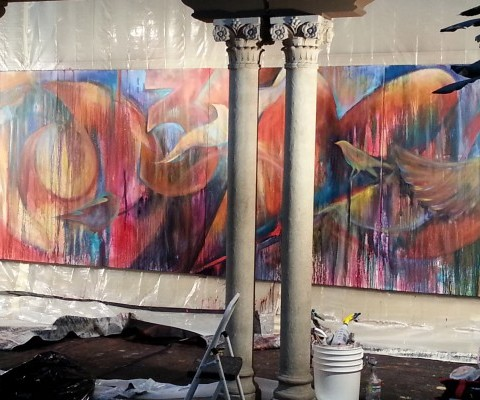 Mural-thon at Riverside Art Museum (20 ft. by 6 ft.)