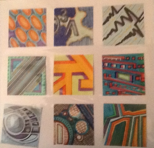 Original Post-It Notes Art (set of 9)