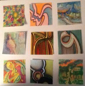 Original Post-It Notes Art (set of 9)