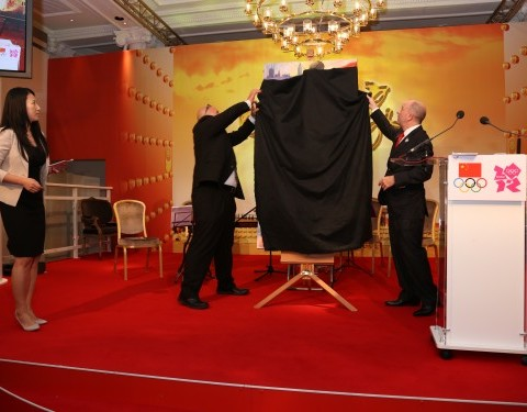 Unveiling Greg's painting in London