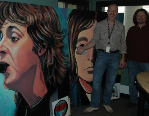 Greg with Gary Bryan at CBS Radio studios in L.A.