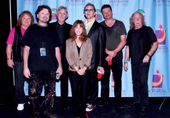 Backstage with Three Dog Night after our respective performances