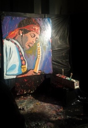 Jimi Hendrix painting by Gregory Adamson